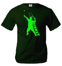 buXsbaum T-Shirt Tennis-XXL-Bottlegreen-Neongreen