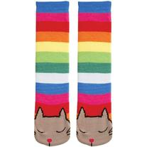Tubular Novelty Socks-Cat -Multi Stripe