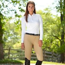 Tuff Rider RIBB Low Rise Knee Patch Breeches Black Size 24