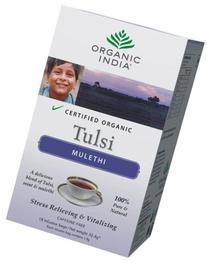 Organic India Tulsi Mulethi - 18 Tea Bags HerbalStore_24*7