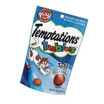 TEMPTATIONS TUMBLERS Treats for Cats Savory Salmon and Tuna