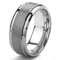 9MM Tungsten Metal Men's Wedding Band Ring in Comfort Fit