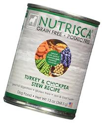 Nutrisca Turkey and Chickpea Dogswell Wet Dog Food, 13-Ounce