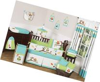 Sweet Jojo Designs Turquoise and Lime Hooty Owl Unisex Baby