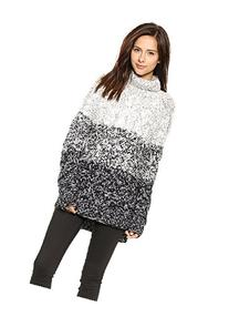 Glamorous Women's Turtleneck Sweater, Grey, X-Small