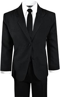 Boys Black Tuxedo Suit with Tie Young Boys Youth Size 10