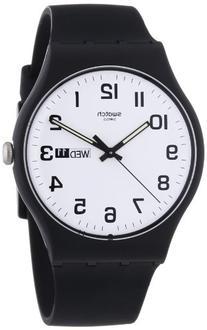 Swatch Twice Again White Dial Plastic Silicone Quartz Unisex