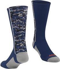 Twin City Digital Camo Crew Socks Navy L