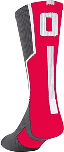 Twin City Player Id Single Crew Sock 0 Red M