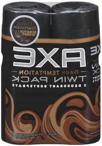 Axe Body Spray Twin Pack, Dark Temptation, 8 Ounce by AXE