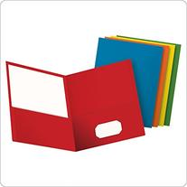 Oxford Twin Pocket Folders, Letter Size, Assorted Colors, 25
