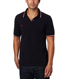 Fred Perry Men's Twin Tipped Polo Shirt-M1200, Navy/White/