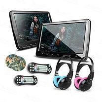 XTRONS 2x 10.1 Inch Twins HD Digital Screen Car Headrest DVD
