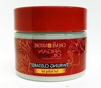 Creme of Nature with Argan Twirling custard curl styling gel
