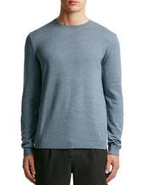 Topman Twist Essential Crew Neck Sweater-BLUE-Medium
