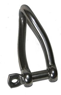 TWISTED SHACKLE WITH SCREW EYE PIN - SET OF 2 PCS - FORGED-