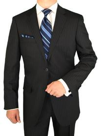 Luciano Natazzi Men's Two Button Canali Cashmere Wool Navy