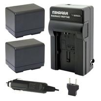 Kapaxen Two Canon BP-727 Replacement Battery Packs + Charger
