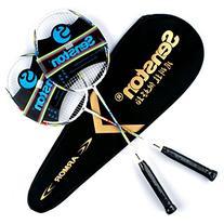 Senston Graphite Shaft Badminton Set with Bag, Set of 2