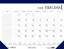 House of Doolittle Desk Pad Calendar 12 Months January 2015