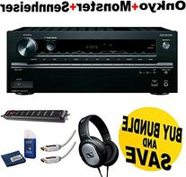 Onkyo TX-NR646 7.2-Channel Network A/V Receiver + Sennheiser