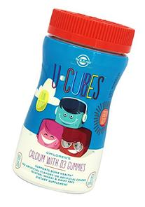 U-Cubes Children's Calcium with D3 Gummies Solgar 60 Gummy