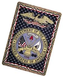 U.S. Department of The Army Military Afghan Throw Blanket 50