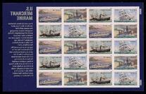 U.S. Merchant Marine Sheet of 20 Mint NH US Postage Forever