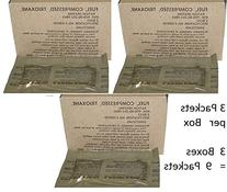 U.S. Military Fire Starter Trioxane Fuel Bars 3 Boxes of 3