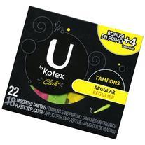 Kotex U By Kotex Unscented Tampons, Regular, 22 Per Pack