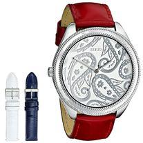 GUESS Women's U0509L1 Trendy Interchangeable Boxed Watch Set
