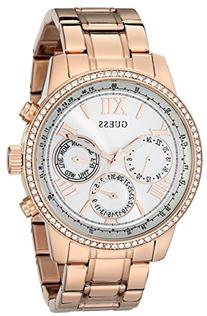 GUESS Women's U0559L3 Rose Gold-Tone Multi-Function Watch