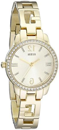 GUESS Women's U0568L2 Iconic Gold-Tone Logo Watch with
