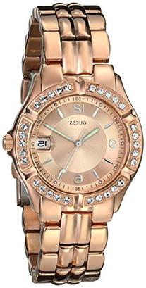GUESS Women's U11069L1 Sporty Chic Rose Gold-Tone Mid-Size
