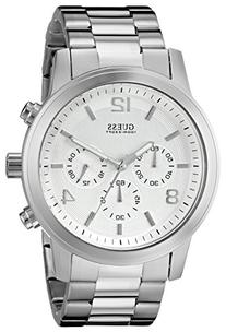 GUESS Men's U13577G1 Silver-Tone Stainless Steel Watch with
