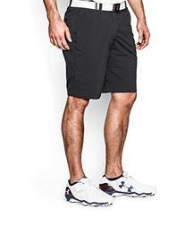 Under Armour Men's Match Play Shorts, Black/True Gray Heather, 34