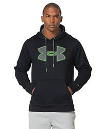 Mens UA Storm Armour Fleece Big Logo Hoodie Medium Black