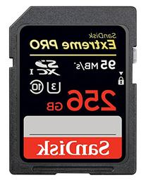 SanDisk Extreme PRO 256GB up to 95MB/s UHS-I/U3 SDXC Flash