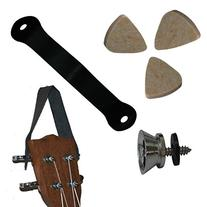 Ukulele Kit - Felts Picks, Uke Strap Lock Button and Hanger
