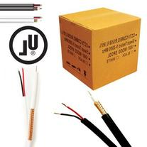 UL Litsted RG59 Siamese 1000 ft. Coaxial CCTV Cable - Combo