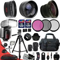 Ultimate 37 Piece Accessory Kit for Canon Mark II EOS 70D