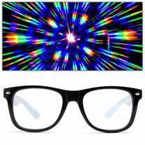 GloFX Ultimate Diffraction Glasses - Black - 3D Prism Effect