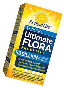 Renew Life Ultimate Flora Extra Care Probiotic 50 Billion ,