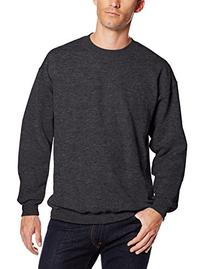 Hanes Men's Ultimate Heavyweight Fleece Sweatshirt, Charcoal