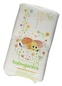 Babyganics Ultra Absorbent Diapers, Size 1, 40 Count