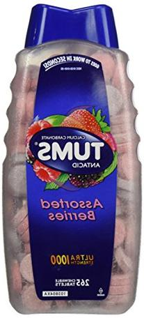 Tums Ultra Assorted Berries 265 Tablets - Maximum Strength
