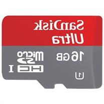 SanDisk Ultra microSDHC UHS-I with Adapter - 16GB - SDSQUNC-