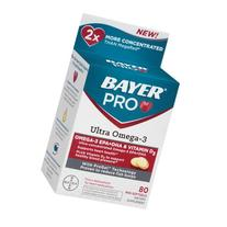 Bayer Pro Ultra Omega-3 Dietary Supplement Mini Softgels, 80