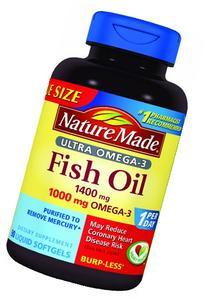 Nature Made Ultra Omega-3 Fish Oil Value Size Softgel, 1400