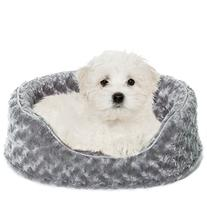 Furhaven Pet NAP Oval Ultra Plush Bed for Dog or Cat, Small